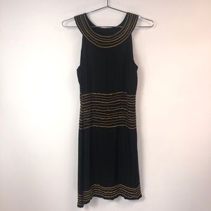 Chanel Silk Gold Chain Dress Size 6